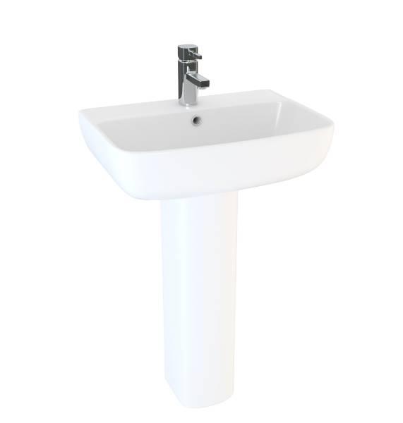 Designer Series 6 60 cm 1TH basin and semi pedestal