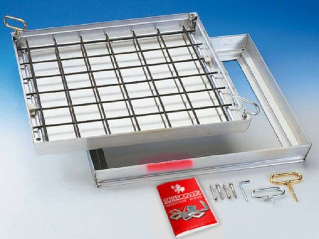 Aluminium floor doors - Fire Rated Lift Out Slim - SBVA