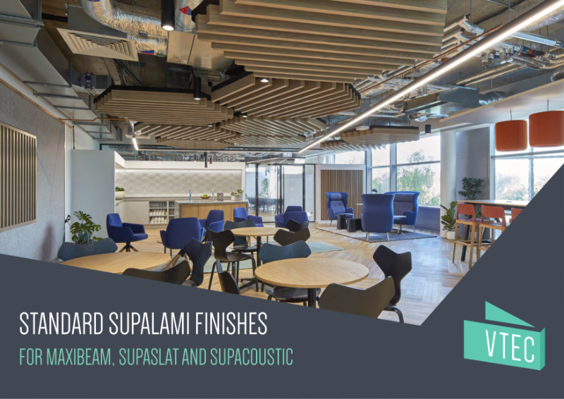 Standard Vtec Supalami Laminate Finishes - For MaxiBeam, SupaSlat and Supacoustic