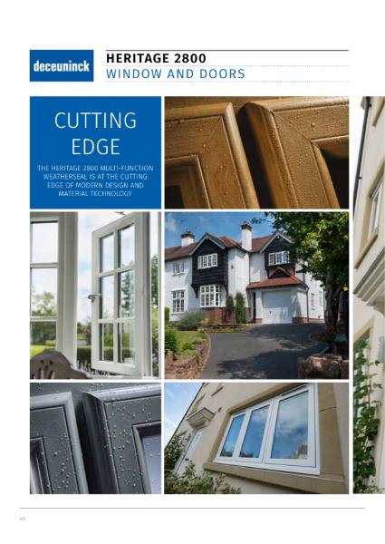 10. Specification Guide - Heritage 2800 decorative series windows & doors