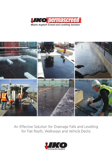 IKO Permascreed: For Drainage Falls and Levelling