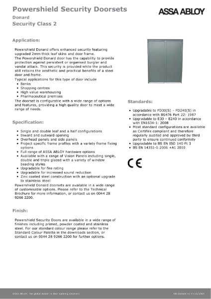 Class 2 - Powershield Security Doorsets