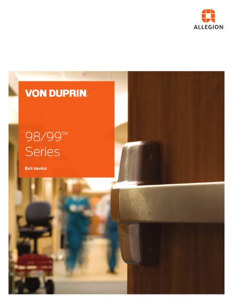Von Duprin®  98/99 Exit Series