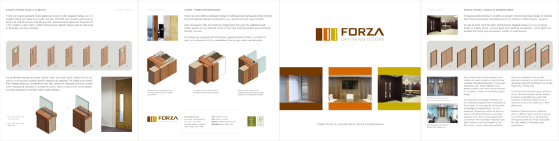 Forza Defining Doors: Timber Veneer & Laminate Doors, Panels and Doorframes