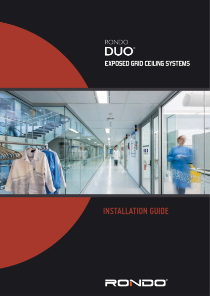 Installation Guide - Rondo DUO Exposed Grid Ceiling Systems
