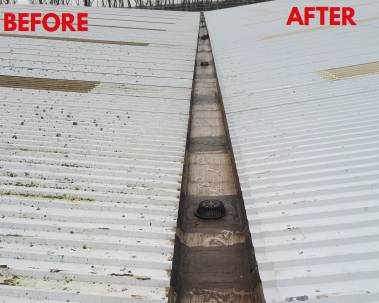 P&O Building Dilapidation - Roof repair and coating. Gutter repair. Using Advantage Graphene and Advantage Gutter