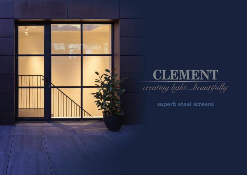 Clement steel screen brochure