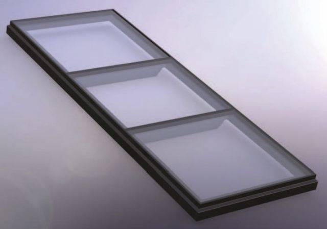 RG-80-20 Fixed Flat Glass Walk On Multi Pane Rooflight