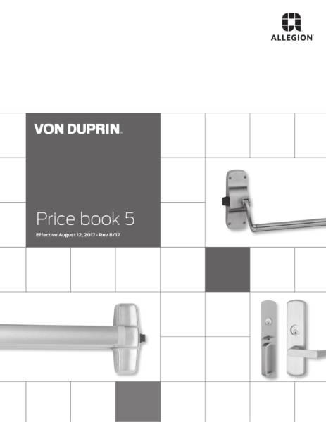Allegion Von Duprin Exit Devices
