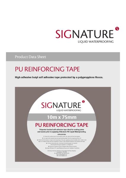 SIGnature PU Liquid Waterproofing Reinforcing Tape Datasheet