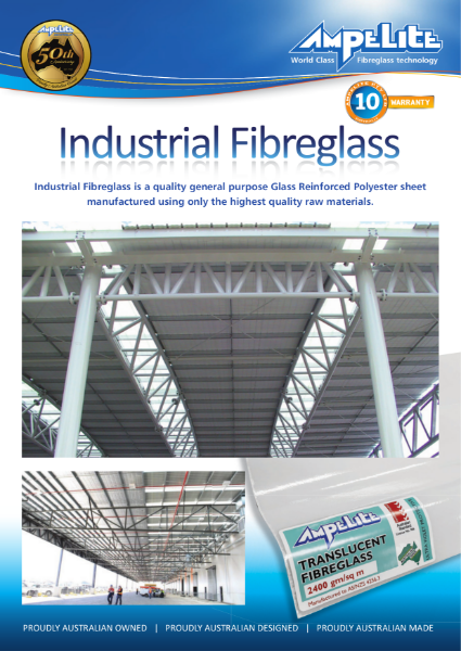 Industrial Fibreglass - quality general purpose glass reinforced polyester sheet