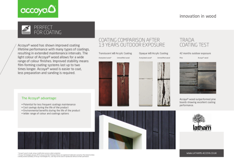 Accoya - Benefits of using Accoya