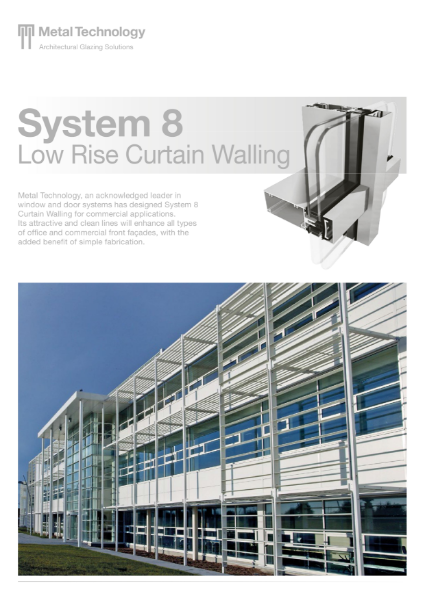 Aluminium Low Rise Curtain Walling