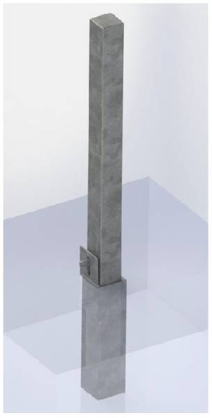 ASF Square Removable Bollard