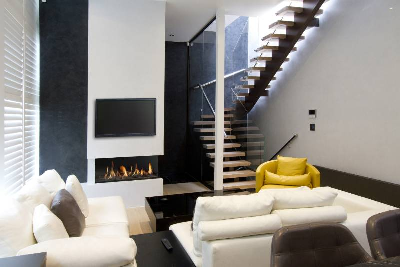 DRU Metro designer gas fires are centrepiece of luxury north London town houses