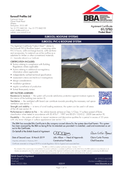 EUROCELL ROOFLINE SYSTEMS