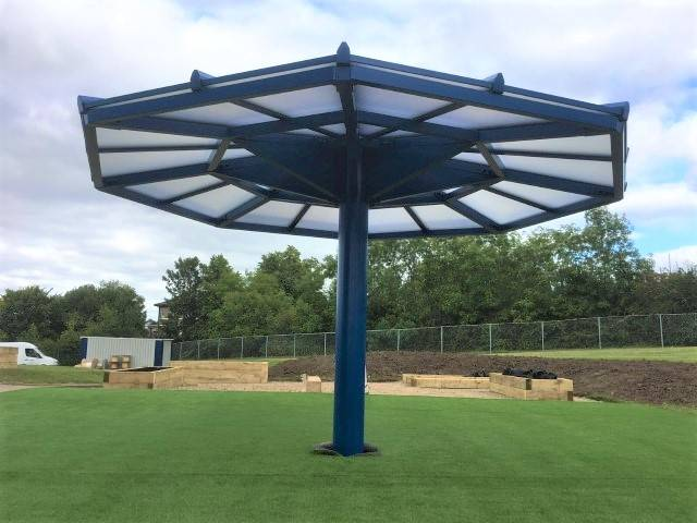 Our first umbrella canopy