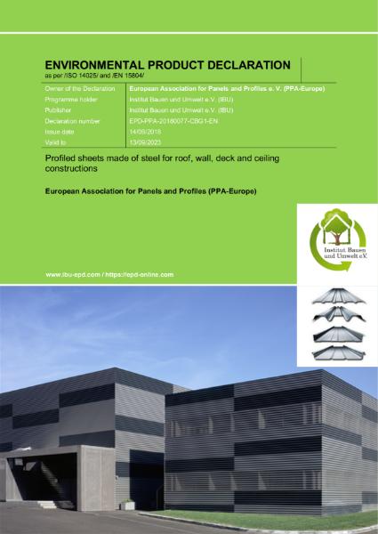 EPD SAB Profiled sheets