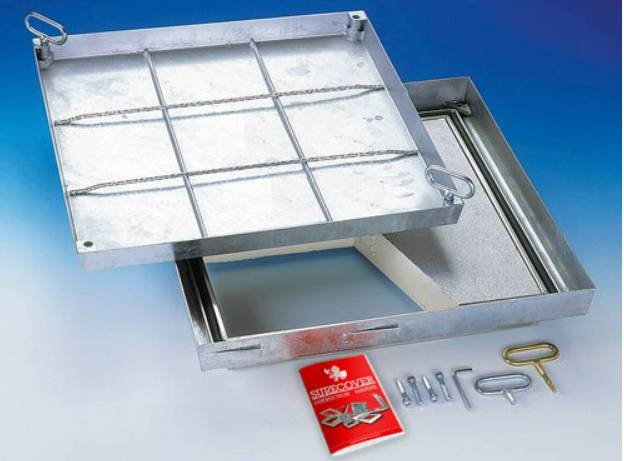 Floor Hatch - Galvanized Steel Floor Doors - Insulated Fire Rated Lift Out - SBV