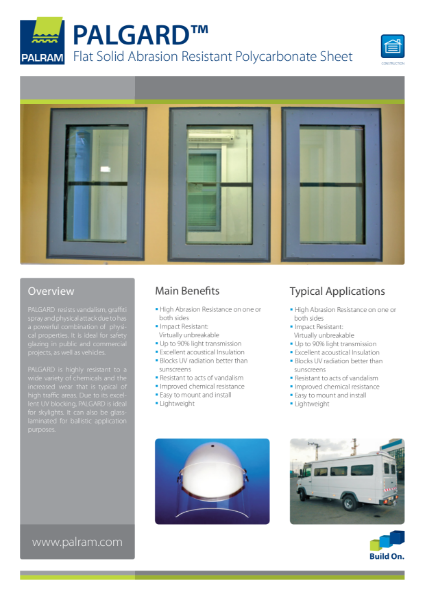 Palgard - Flat Solid Abrasion Resistant Polycarbonate Sheet