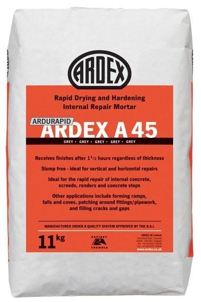 ARDEX ARDURAPID A 45 Rapid Drying Internal Repair Mortar