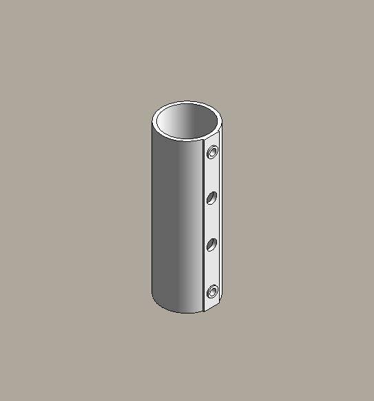 Aluminium street lighting brackets - single holder