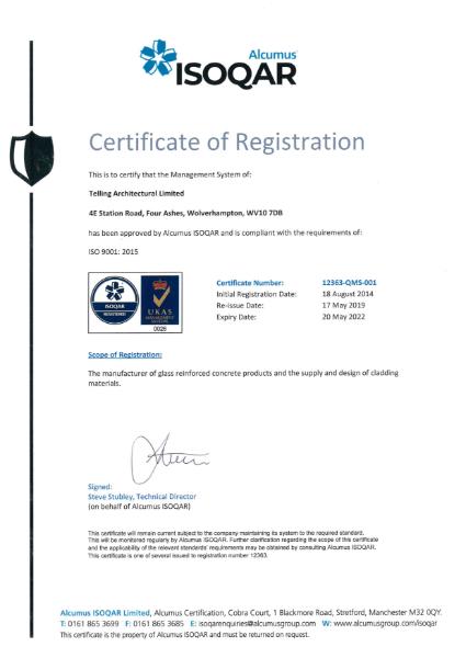 Alcumus ISOQAR ISO 9001:2015