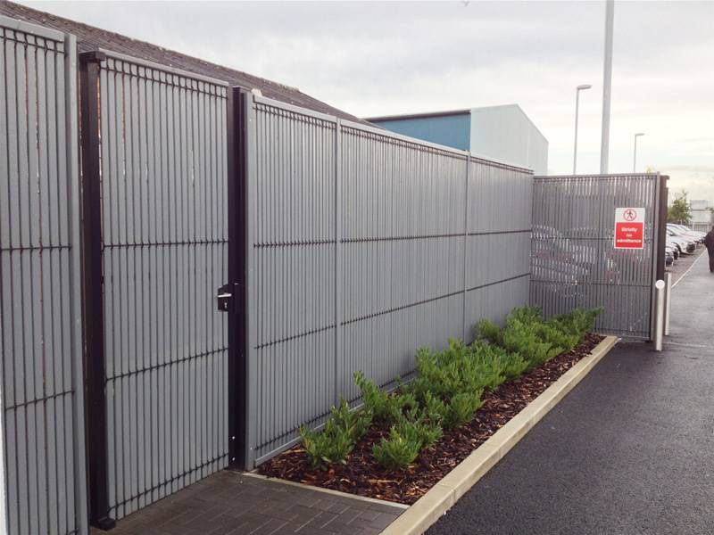 New: Stylish EuroGuard Combi Security Fencing BMW Service Centre