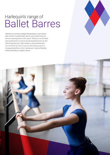 Range of freestanding and wall-mounted ballet barres