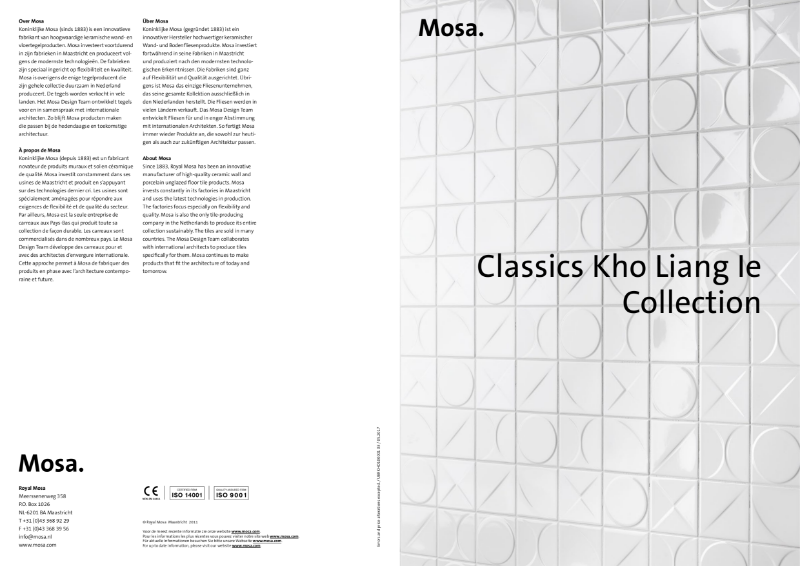 03. Mosa Classics Kho Liang le - A design classic from the Sixties