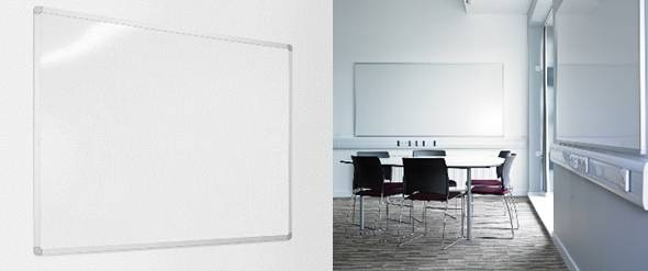 Sundeala Vitreous Enamelled Steel Projection Whiteboard - Aluminium Framed with Magnetic Writing Surface