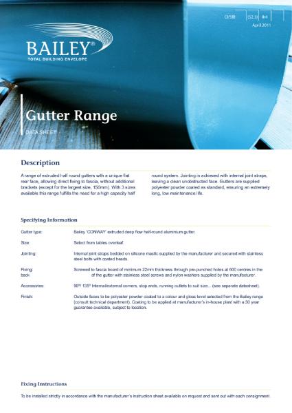 Conway Gutter Range
