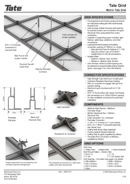 Tate Grid Structural Ceiling datasheet