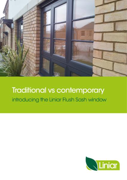 Liniar flush sash PVCu windows