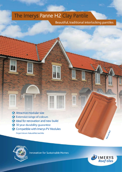 The Imerys Panne H2 Clay Pantile