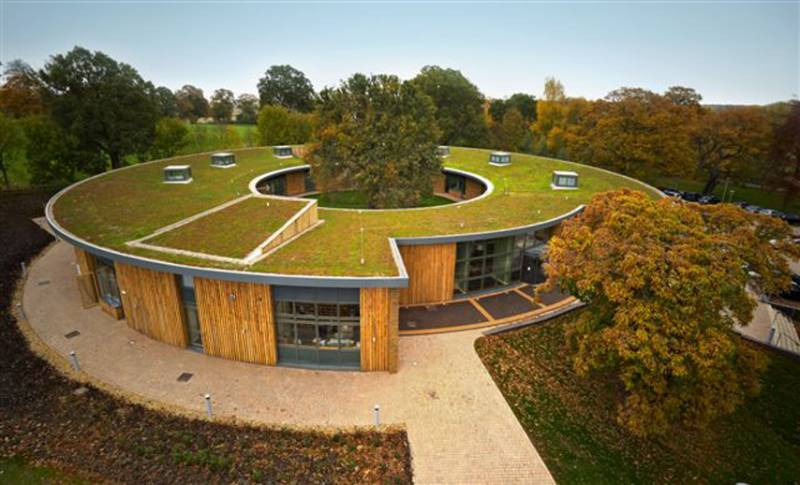 Spectraplan chosen for green sedum roof at British Horse Society