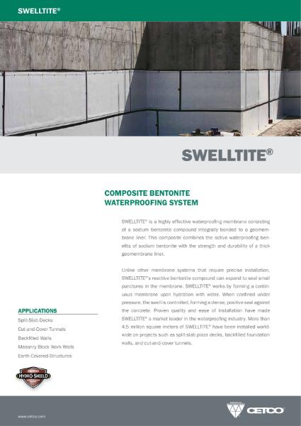 SWELLTITE® - COMPOSITE BENTONITE WATERPROOFING SYSTEM