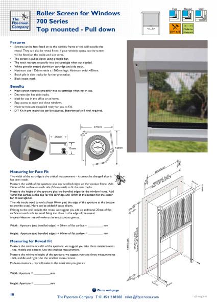 Roller Window Fly Screen - S700