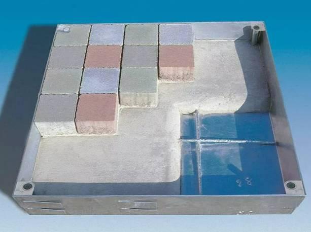 Floor Door Galvanized Steel - 100 mm Recess - 125 kN - Lift Out or Hinged - SBVH