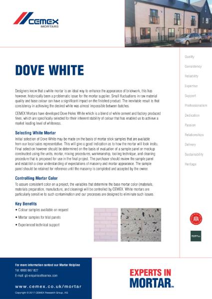 Dove White Mortar