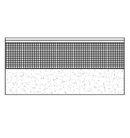 Flat reinforced bitumen warm roof on concrete deck