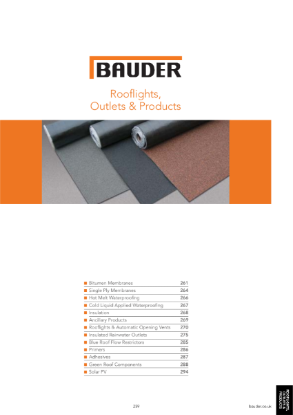 Rooflights, Outlets & Products - Bauder