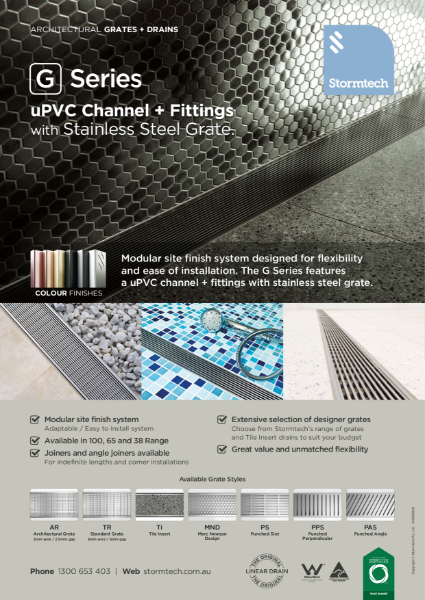G Series uPVC channel + fittings