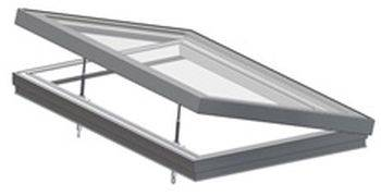 RG-80-20 Manual Hinged Flat Glass Rooflight
