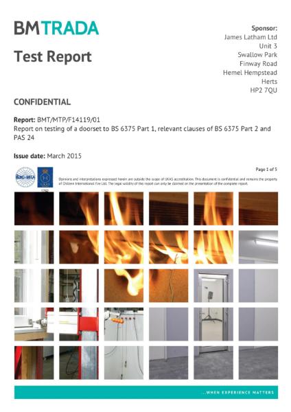 Doors - Moralt Ferro 68-98mm Test Reports PAS 24 / BS 6375 - 1 of 3