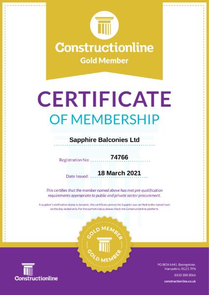 Constructionline Gold Certification