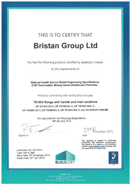 NHS Model Engineering Specifications Certificate