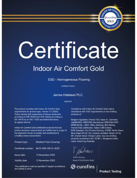 Indoor Air Comfort Gold