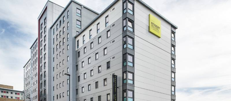 St Mary's Student Accommodation, Southampton. Featuring Deceuninck 5000 Series and Decoroc 4 sided colour