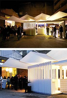 Breezefree's 115 square metre retractable canopy at the Restaurant and Bar Design Awards